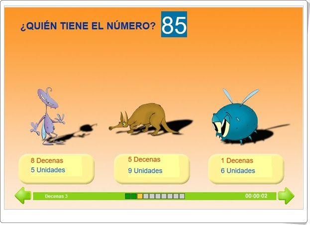 ¿Quién tiene el número? (Decenas y unidades de Matemáticas de 1º de Primaria)