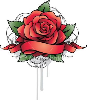 rose and banner tattoo ink pinterest tattoos and body art roses and banners. Black Bedroom Furniture Sets. Home Design Ideas