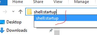 """Benefit: Auto-start programs and files (Reboot) that you use daily without searching high and low and clicking 8 shortcuts daily over your lifespan   How?  1. In any windows explorer folder - address bar (see screenshot): type """"shell:startup"""" in the address bar  2. This opens your in-built Windows Startup folder > Put a copy of yourshortcutsof your daily program and files into this folder.  Good shortcuts are Chrome etc  Outcome:  Whenever you reboot your PC due to updates or other reasons…"""