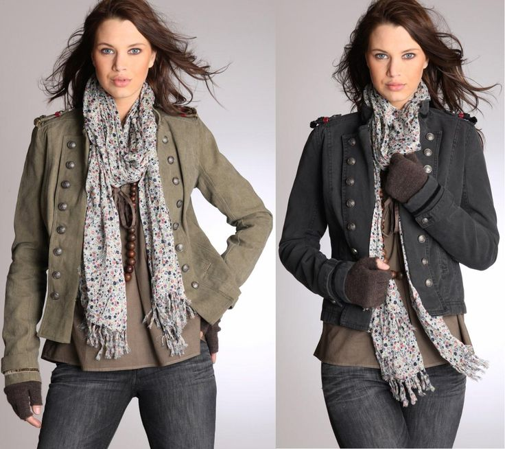 Military style jacket for women