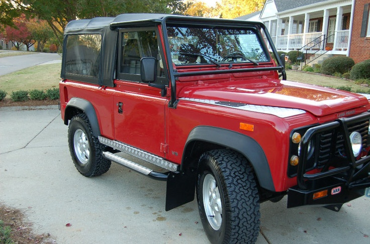 1994 Portifino Red Land Rover Defender