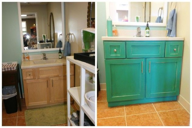 Bathroom Vanity With Chalk Paint Inspiration Before After Pinterest Chalk Paint