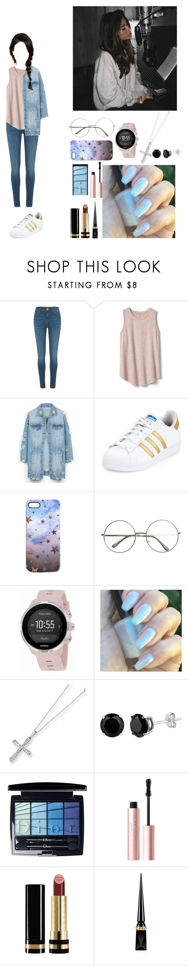 """""""■Vocal/rap practice■□Hani□"""" by girl-gang-official ❤ liked on Polyvore featuring River Island, Gap, LE3NO, adidas, Nikki Strange, Suunto, Kevin Jewelers, Christian Dior, Too Faced Cosmetics and Gucci"""