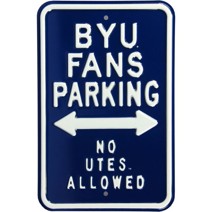 Authentic Street Signs BYU Cougars Parking Sign, Team