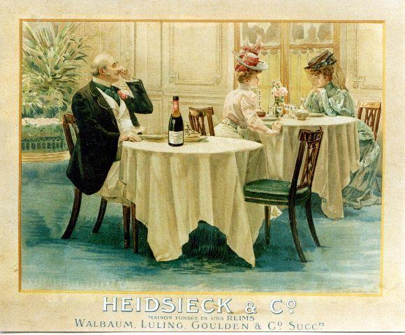 Champagne Heidsieck - circa 1910 vintage poster