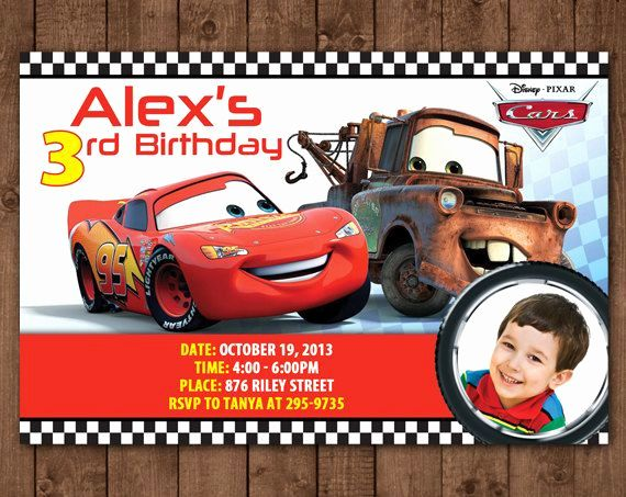 Disney Cars Invitation Template Awesome Pin By Lindsay Gabbai On Caleb S 4th Birthd Cars Birthday Invitations Cars Invitation Birthday Invitation Card Template