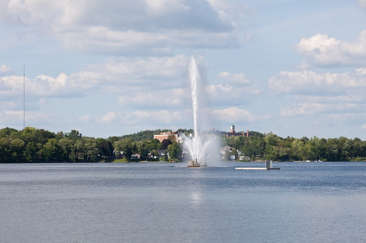 Peterborough, Ontario. Little Lake Fountain  The city I now call home, smaller than Oshawa, big enough to be a city with a small-town atmosphere.  Beautiful city and I love living here.
