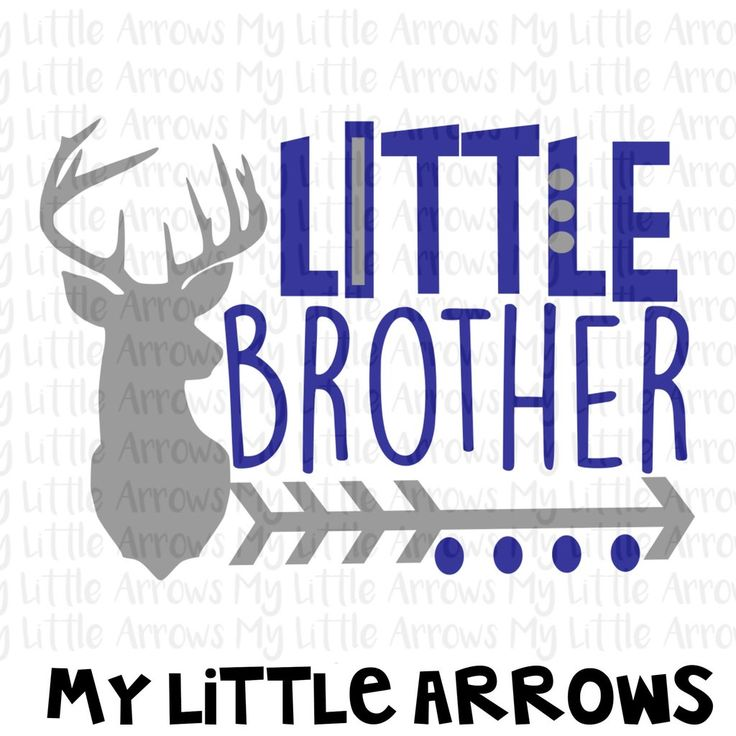 Deer head little brother silhouette SVG, DXF, EPS, png Files for Cutting Machines Cameo or Cricut - new big brother svg - deer svg cut file