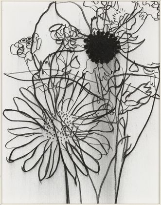 Gary Hume.  Charcoal on canvas / Untitled III. 2001