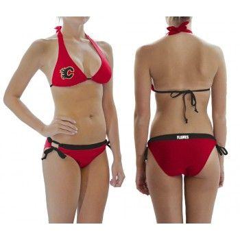 Calgary Flames Contrast Waist Bikini