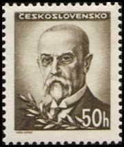 Znaczek: Tomáš Garrigue Masaryk (1850-1937), president (Czechosłowacja) (Portraits) Mi:CS 461,Sn:CS 301,Yt:CS 404,AFA:CS 317,POF:CS 414