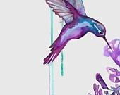 A Cat-Like Curiosity: Hummingbirds Art, Pretty Birds, Cat Lik Curiosities, Curious Wishlist, Hummingbird Art, Art Journaling