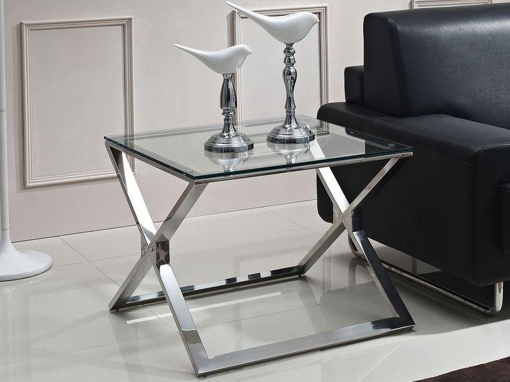 i rustfritt og polert stål med 1,2 cm tykk bordplate i herdet glass.Art nr: CO0209Serie: SliverlineDimensjoner (cm): Bredde: 65.0, Dybde: 65.0, Høyde:52.0 .Materiale: Vi benytter rustfritt stål grad 202 i denne modellen.