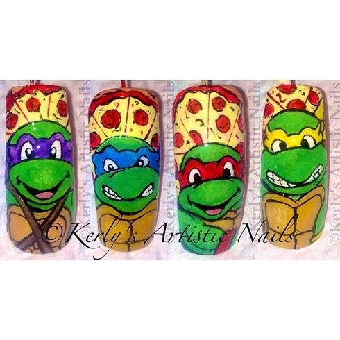 Teenage Mutant Ninja Turtles - Nail Art by KerlysNails - Nail Art