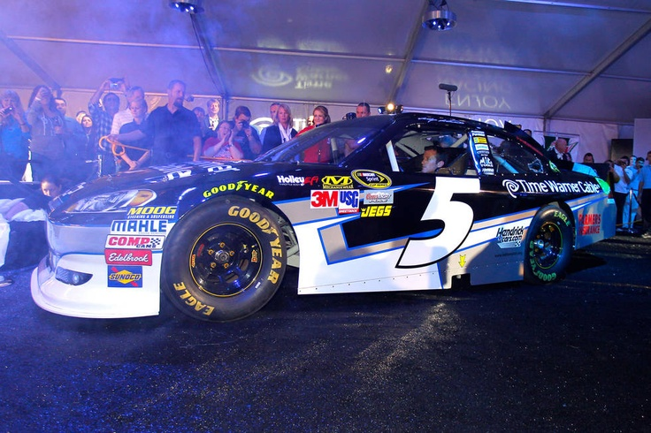 Kasey Kahne drove the new No. 5 Time Warner Cable Chevrolet right into the party.