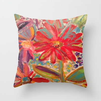 In The Garden Throw Pillow by Susan K. Weckesser  - $20.00