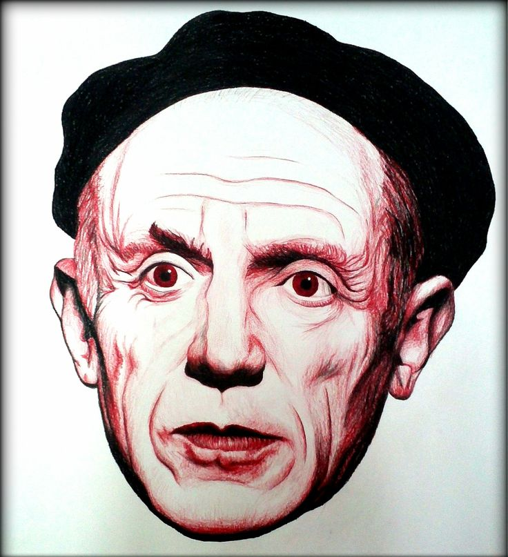 Pablo Picasso //black&red A1