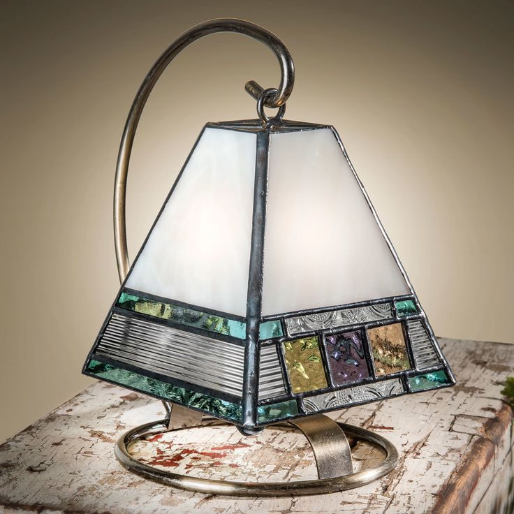 J devlin lam 695 pastel english muffle glass mini lamp stained glass lampsglass artend tablestable