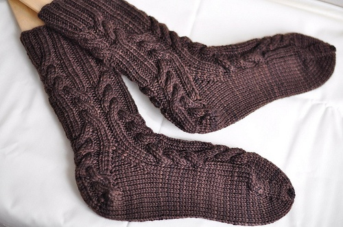 hand knit socks, worsted weight yarn.  Must make theseHands Knits, Knits Wool, Weights, Foot Wear, Knits Worst, Knits Pattern, Knits Ideas, Handknit Wost, Knits Socks