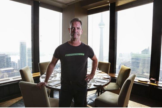 Corporate executive chef Anthony Walsh at Canoe, which celebrates its 20th anniversary on Sept. 21.
