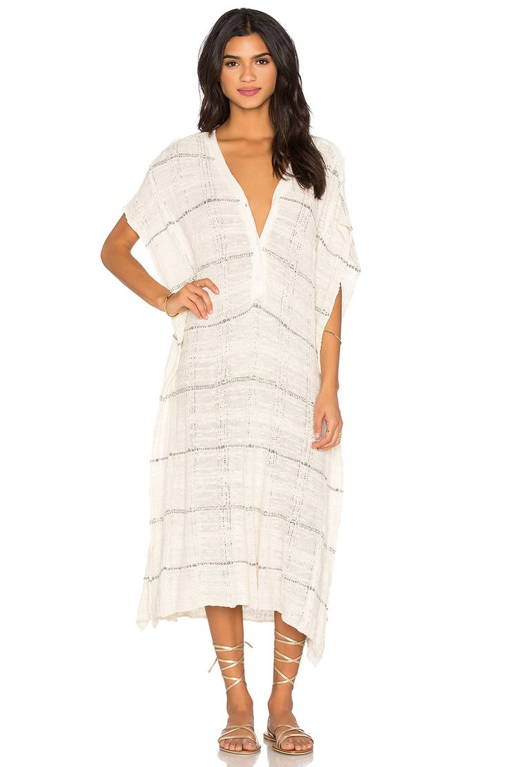 Free People Whispering Wind Poncho Dress in Cream Combo