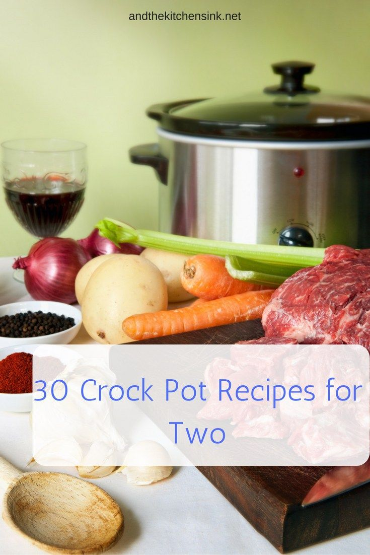 This is great. It's just me and my husband, no kids, and most crockpot recipes are geared for big families... so I'll definitely be referencing this list a lot! Thanks for pinning 30 crockpot recipes for two!!!