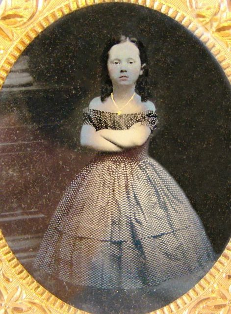 :::::::::: Antique Photograph ::::::::::  Little Miss Attitude to the Max!  Civil War Ambrotype in Case.