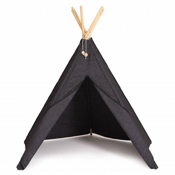 Roommate Hippie Tipi tent zwart| Snelle levering - De Kleine Generatie