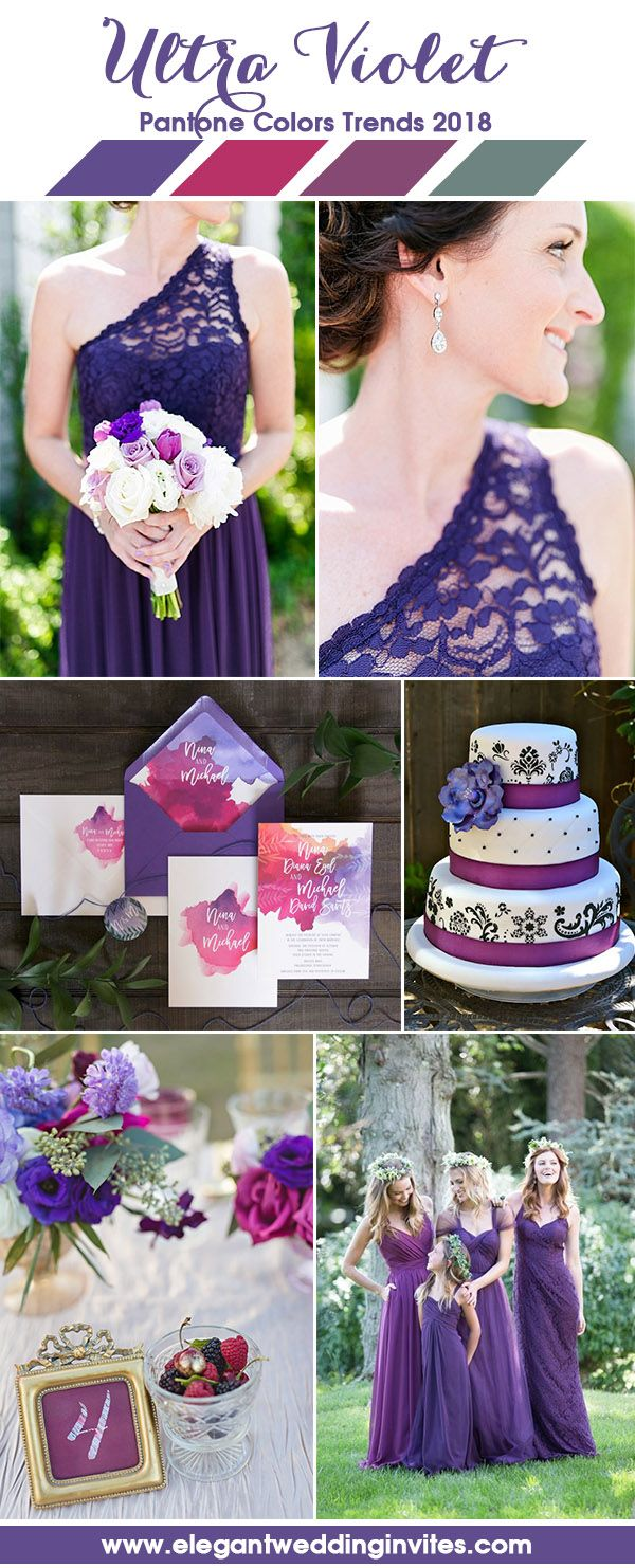 Ultra Violet and Fuchsia Pink Wedding Colors Ideas