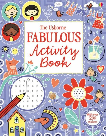 The Usborne Fabulous Activity Book  #Usborne #Fabulous #Activity #book #pad #children #busy #draw #doodle #colour #sticker #activities