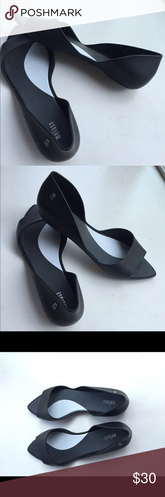 Black melissa flats Black slip on flats. Melissa Shoes Flats & Loafers
