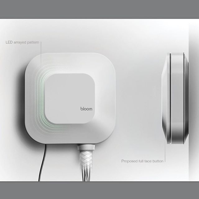 http://ift.tt/OHgbym Here are the orthographic renders of the front and side view of the blossom smart watering controller. by @rotimi_solola