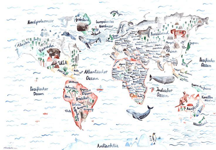 Weltkarte Gretas Schwester