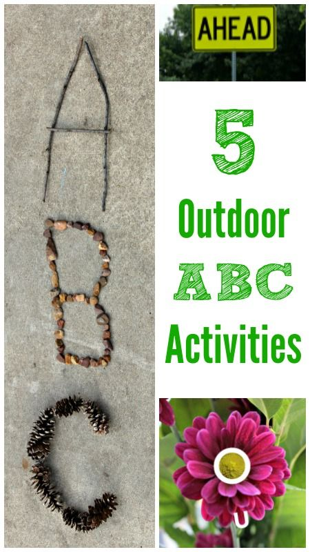 Fun outdoor letter activities - literacy centers using nature and outdoor letter hunts for kids
