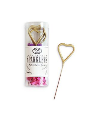 heart-shaped sparklers - so fun!
