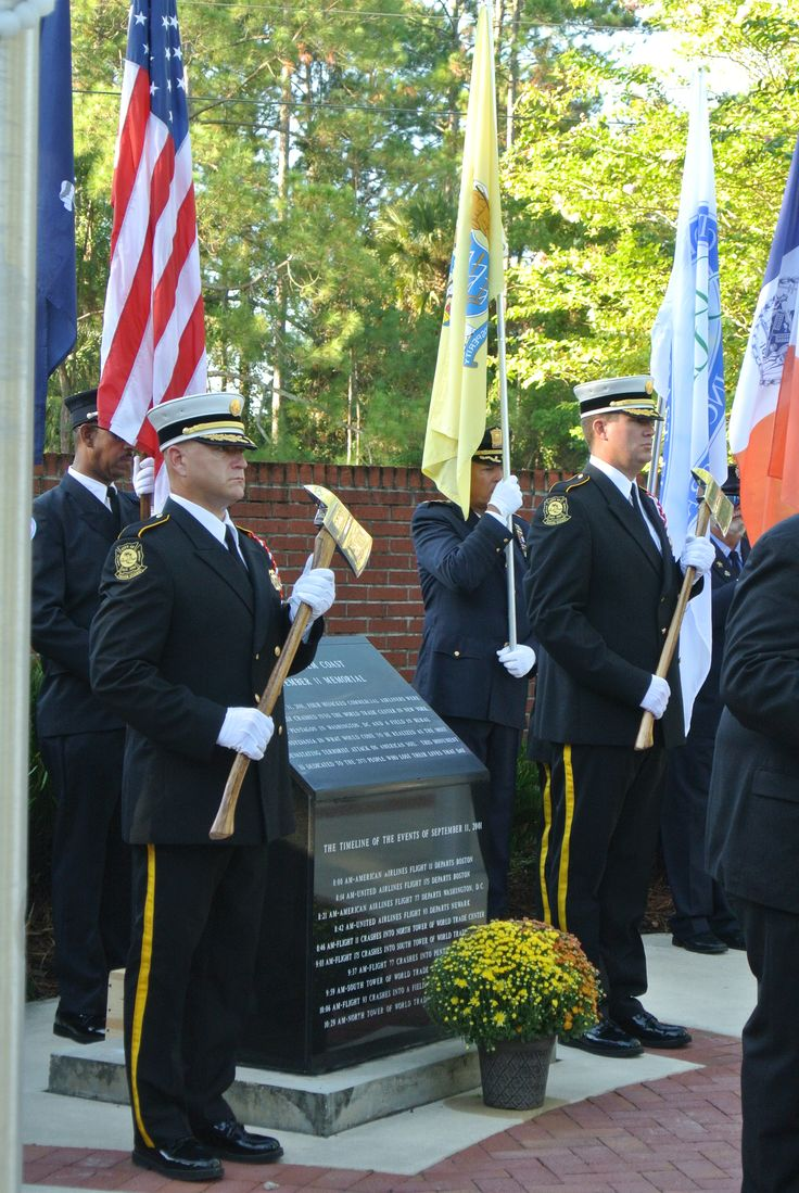 9/11 Ceremony in Heroes Park.