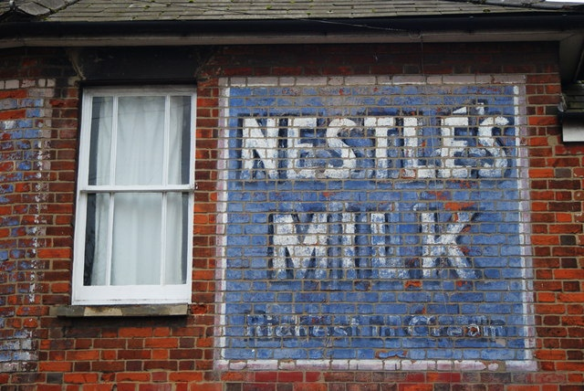 Nestle's Milk~~what was the composition of this old paint--that has lasted 100 years!
