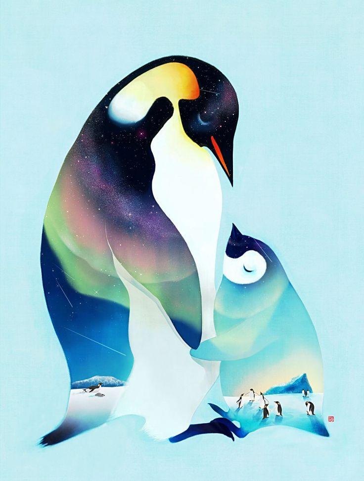 남극의 밤 - 일러스트레이션