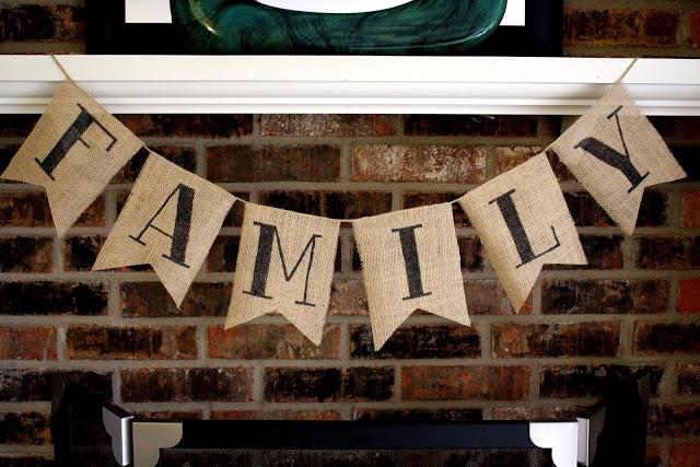 DIY burlap banner  www.ThisHouseIsOurHome.blogspot.com