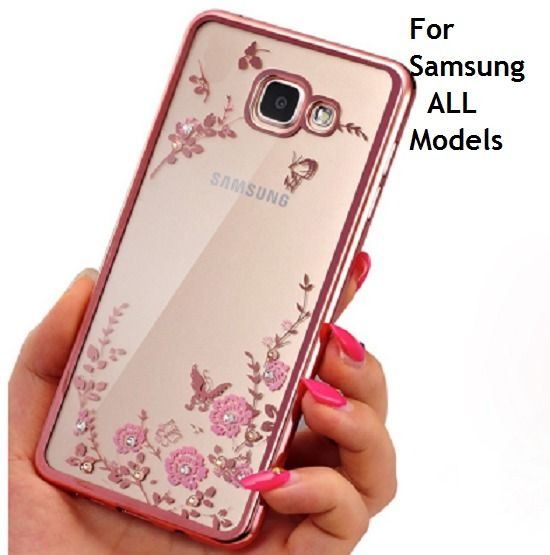 Frame Clear Case Cover For Samsung Galaxy Flower Diamonds Soft Cases PAPC155 #UnbrandedGeneric