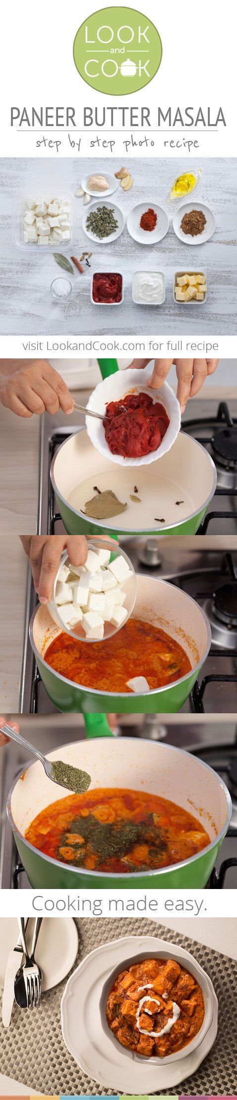 PANEER BUTTER MASALA RECIPE Paneer Butter Masala Recipe (#LC14028): Tender chunks of paneer are cooked in a deliciously rich makhani gravy to give everyone's favourite