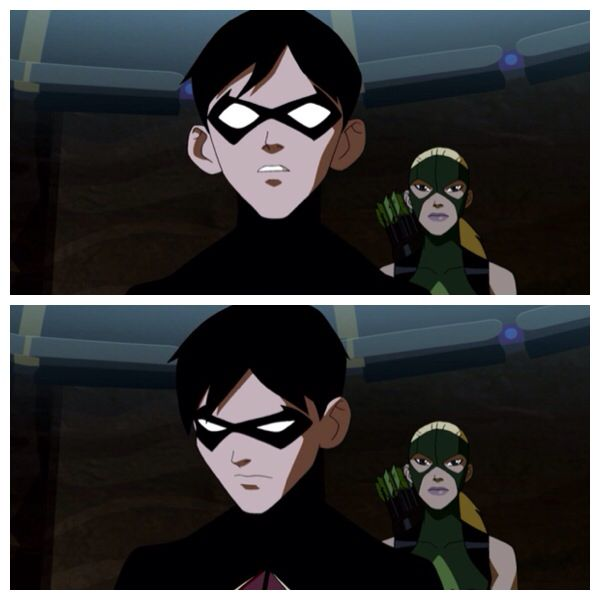 Season 1 Episode 13 Alpha Male: Robin being reprimanded by Batman