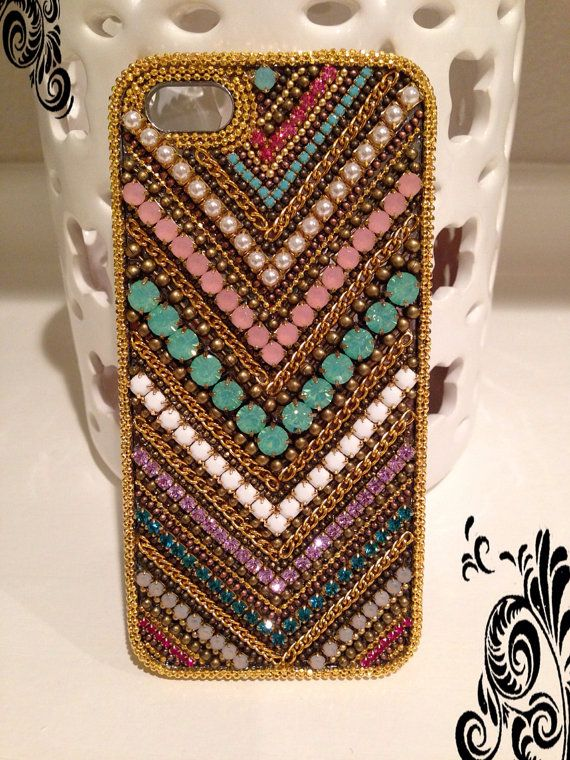 iPhone 5/ iPhone 5s case with Genuine by CrystalDesignsbyG on Etsy