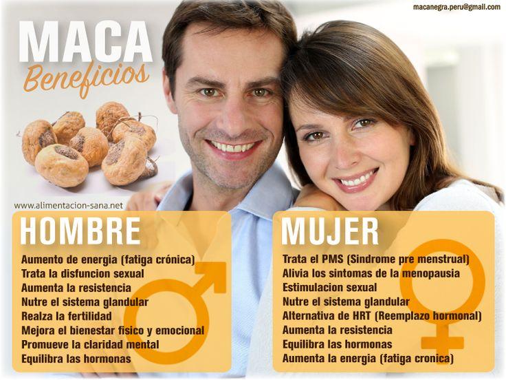MACA: SUS VENTAJAS PARA CADA SEXO Conoce los beneficios para la mujer y sus beneficios para el hombre. #maca  alimentacion@gmail.com