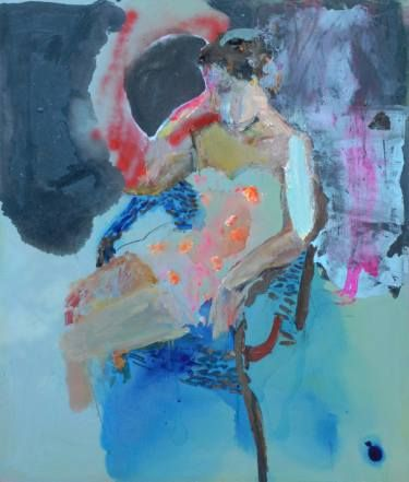 "Saatchi Art Artist ALINA FEDOTOVA; Painting, ""Marianna with a lifebuoy"" #art"