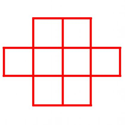 Put the numbers 1 to 8 in the grid, so that consecutive numbers are not next to each other - horizontally, vertically or diagonally!