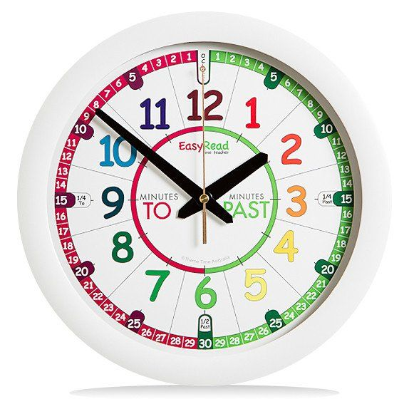 EasyRead Time Teacher Rainbow Past & To Wall Clock – The Coffee Apple