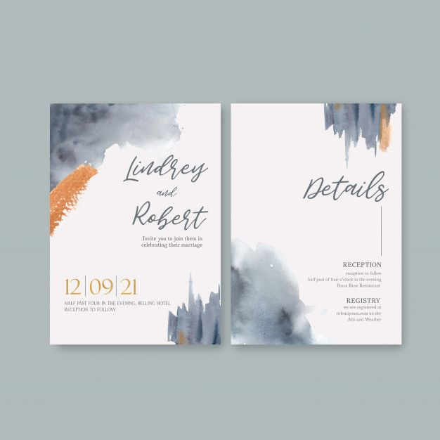 Download Watercolor Wedding Card Template With Brushstrokes For Free Wedding Cards Wedding Card Templates Watercolor Wedding