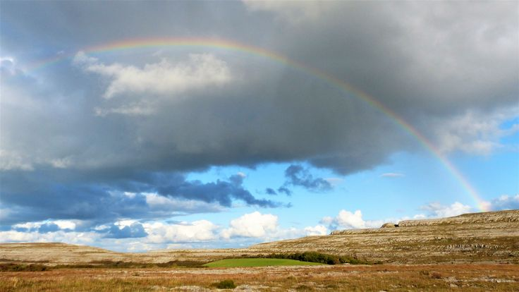 Co Clare: rainbow over Puck's Leap.