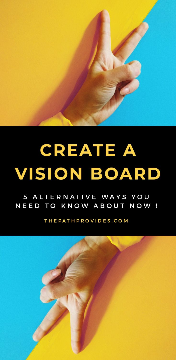 5 alternative ways to create a vision board the path